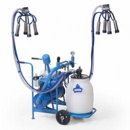 Máquina de Ordenhar 300 Movel c/ 2 conjuntos, reservatório aço carbono
